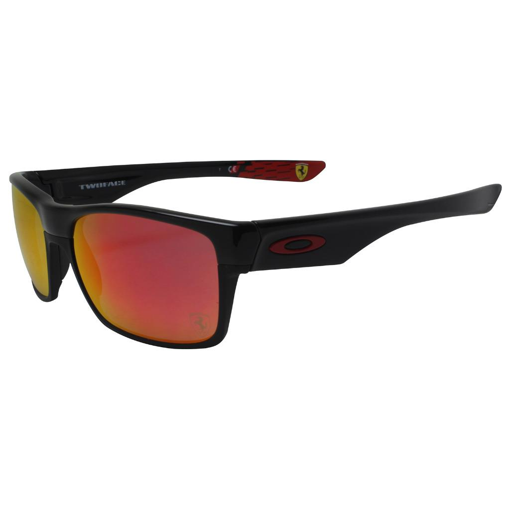 cab83f141a Details about Oakley OO 9189-36 Twoface Ferrari Collection Black w  Ruby  Iridium Sunglasses .