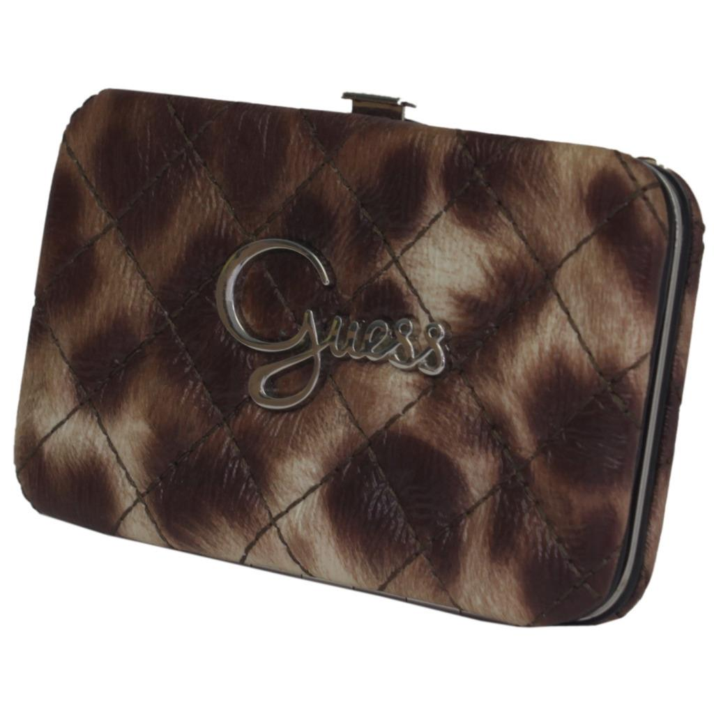 a1eccc761c0 Details about Guess Dynamite Leo Brown Purse Leather Wallet Womens Money  Card Holder Case
