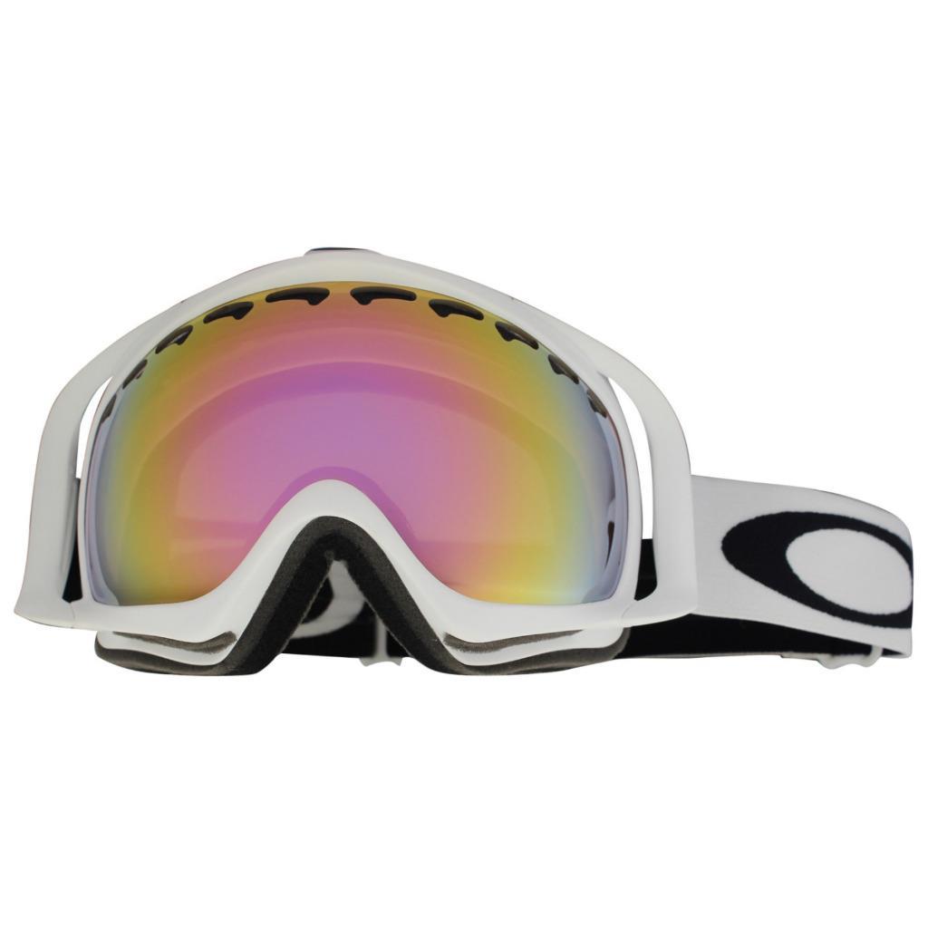 092260e4baa2 Description. Oakley Crowbar Snow Goggles Brand  Oakley Model  Crowbar SKU   57-259. Frame  Matte White Lens  VR50 Pink Iridium