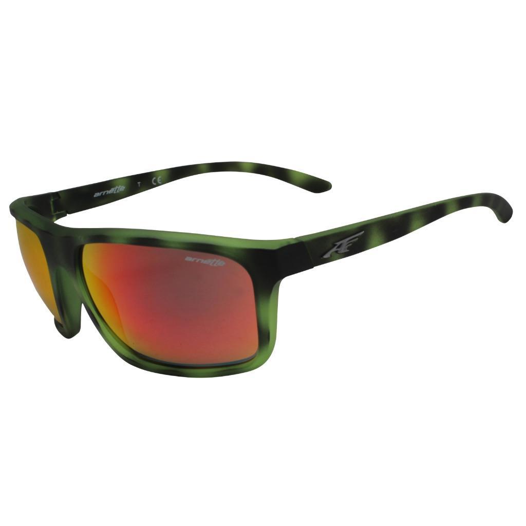 Arnette Sunglasses Sandbank 4229 24656Q Matt Green Havana Red Mirror
