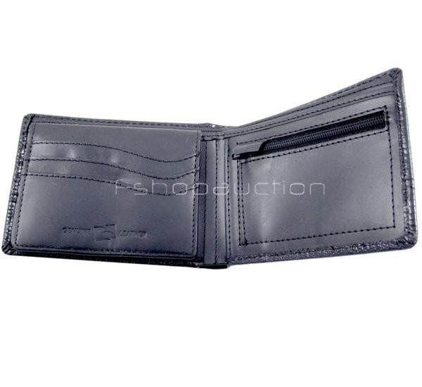 Rip Curl Intake Black Croc Mens Surf Leather Wallet New