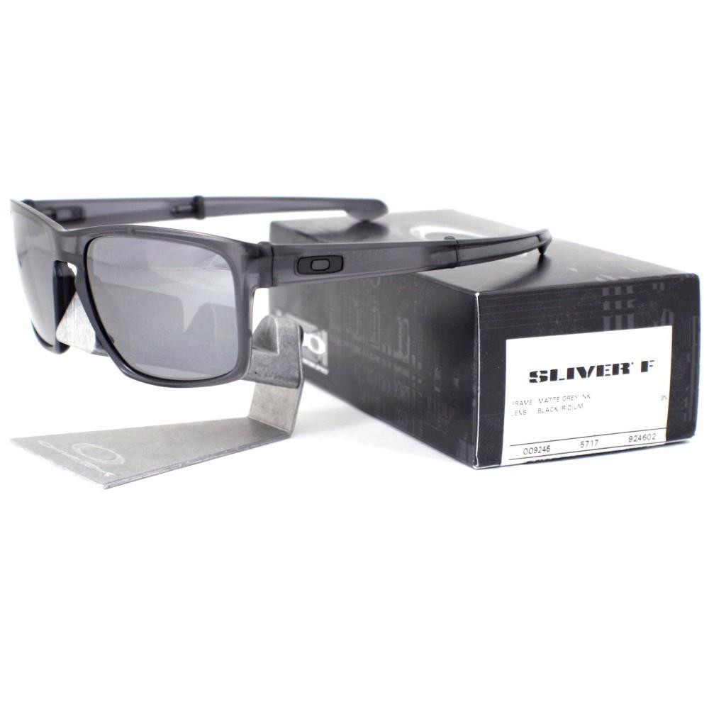 bc35a32f17 Details about Oakley OO 9246-02 SLIVER F Foldable Matte Grey Ink Black  Iridium Mens Sunglasses