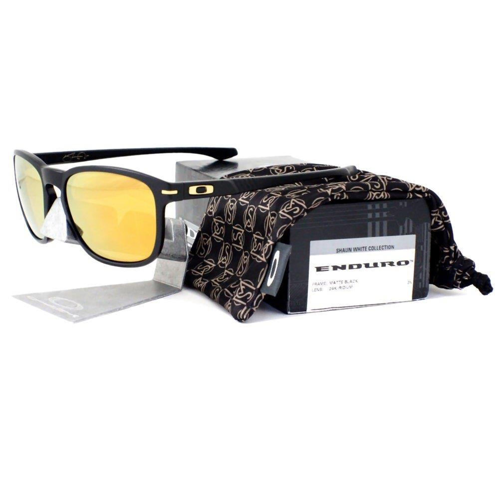 Oakley OO 9223-04 SHAUN WHITE ENDURO Matte Black 24K Iridium Mens ... d33539dd11