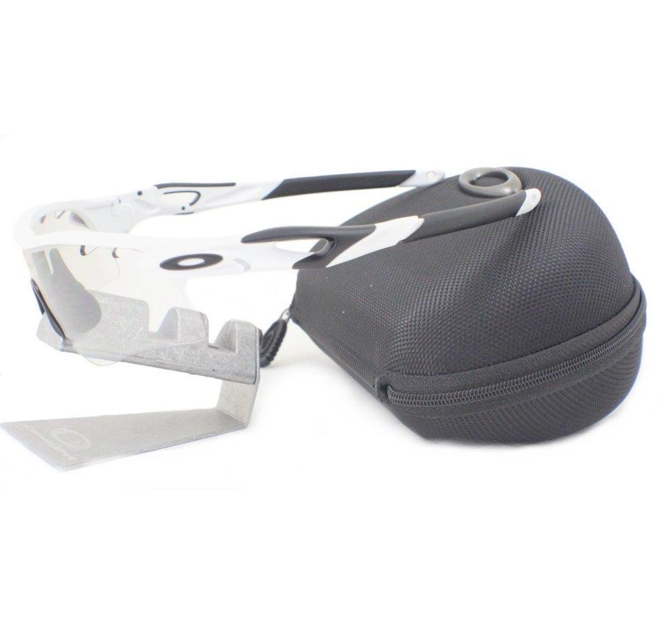 7e726857bd Oakley Radarlock Path Matte White Clear Black Iridium Photochromic Vented