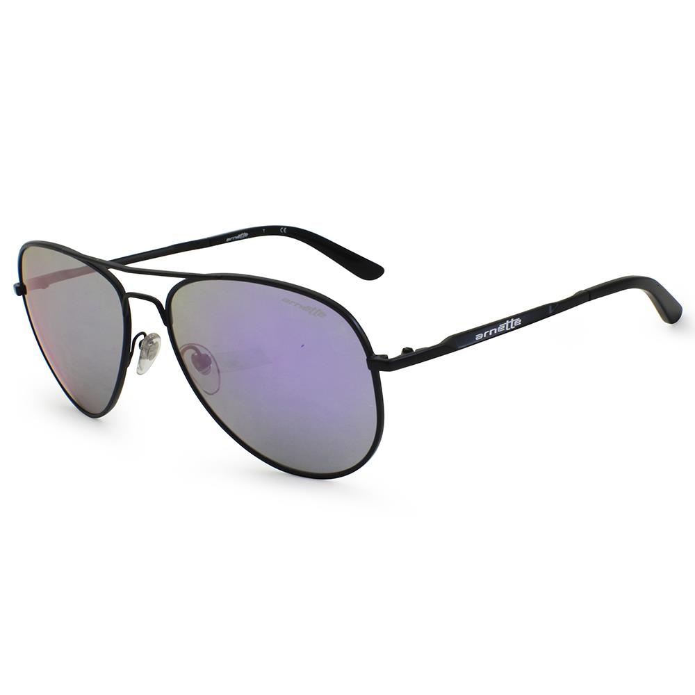 48fb68b990433 Arnette AN 3065-01 TROOPER Matte Black Purple Mirror Mens Metal ...