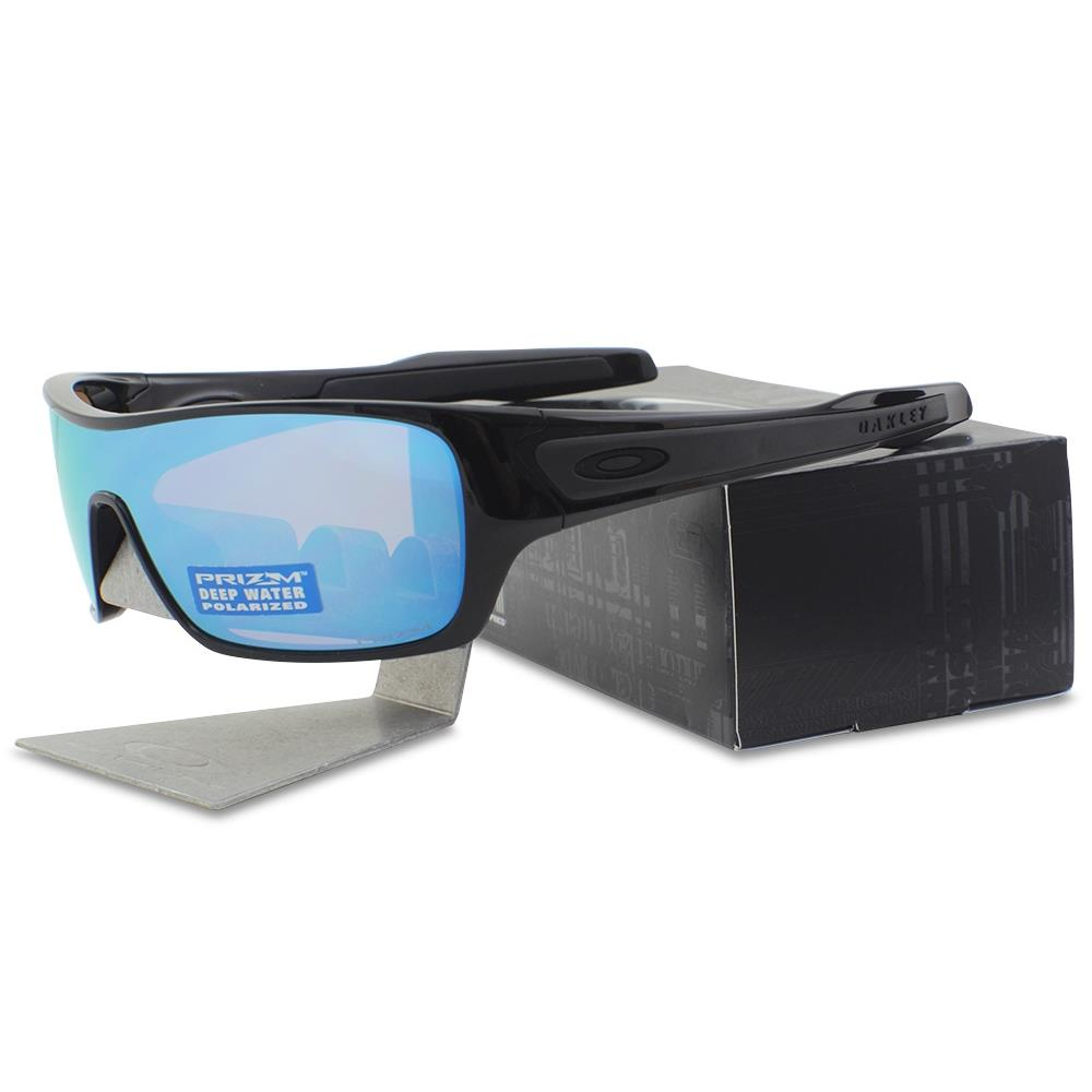 e746d89f05 Details about Oakley Custom POLARIZED TURBINE ROTOR Black Deepwater Prizm  Lens Sunglasses .