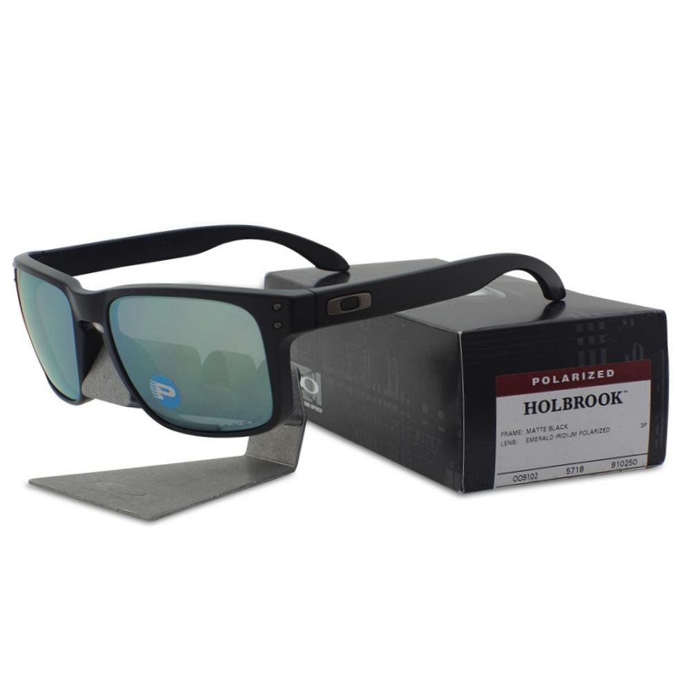 d433c4bbb69 Details about Oakley OO 9102-50 Polarized Holbrook Matte Black w  Emerald  Iridium Sunglasses .