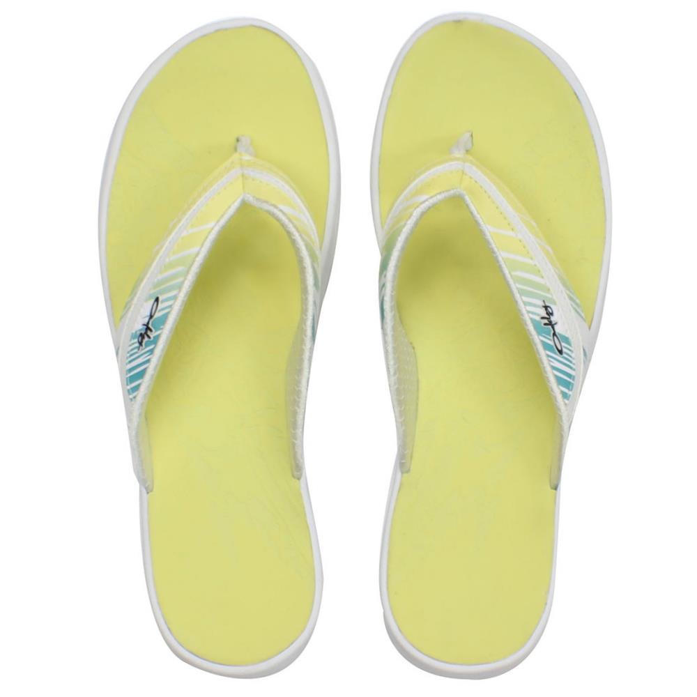7d9705ed923c Oakley LOWLA 3 White Print 10 US Womens Girls Beach Flip Flops ...