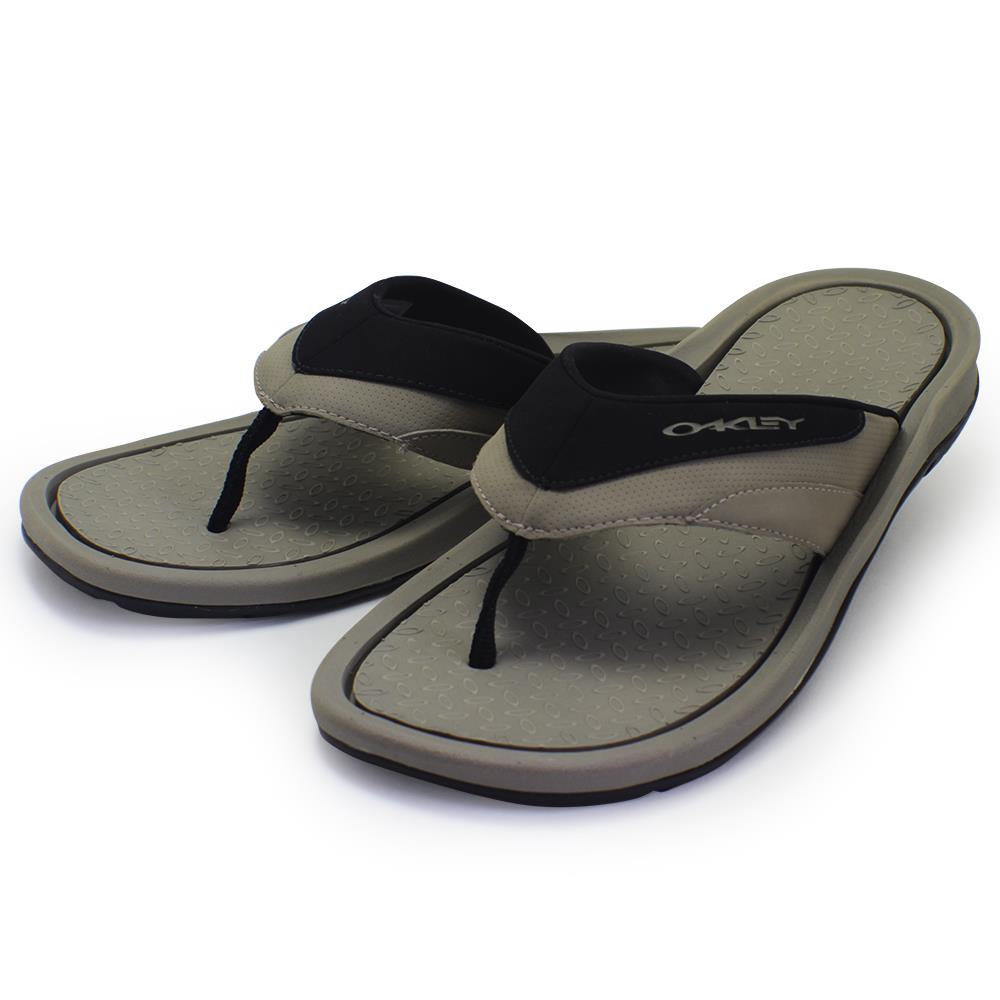 08616d88aa6 Oakley LOWBALL Thongs Khaki 8 US Mens Beach Casual Flip Flop Sandals ...