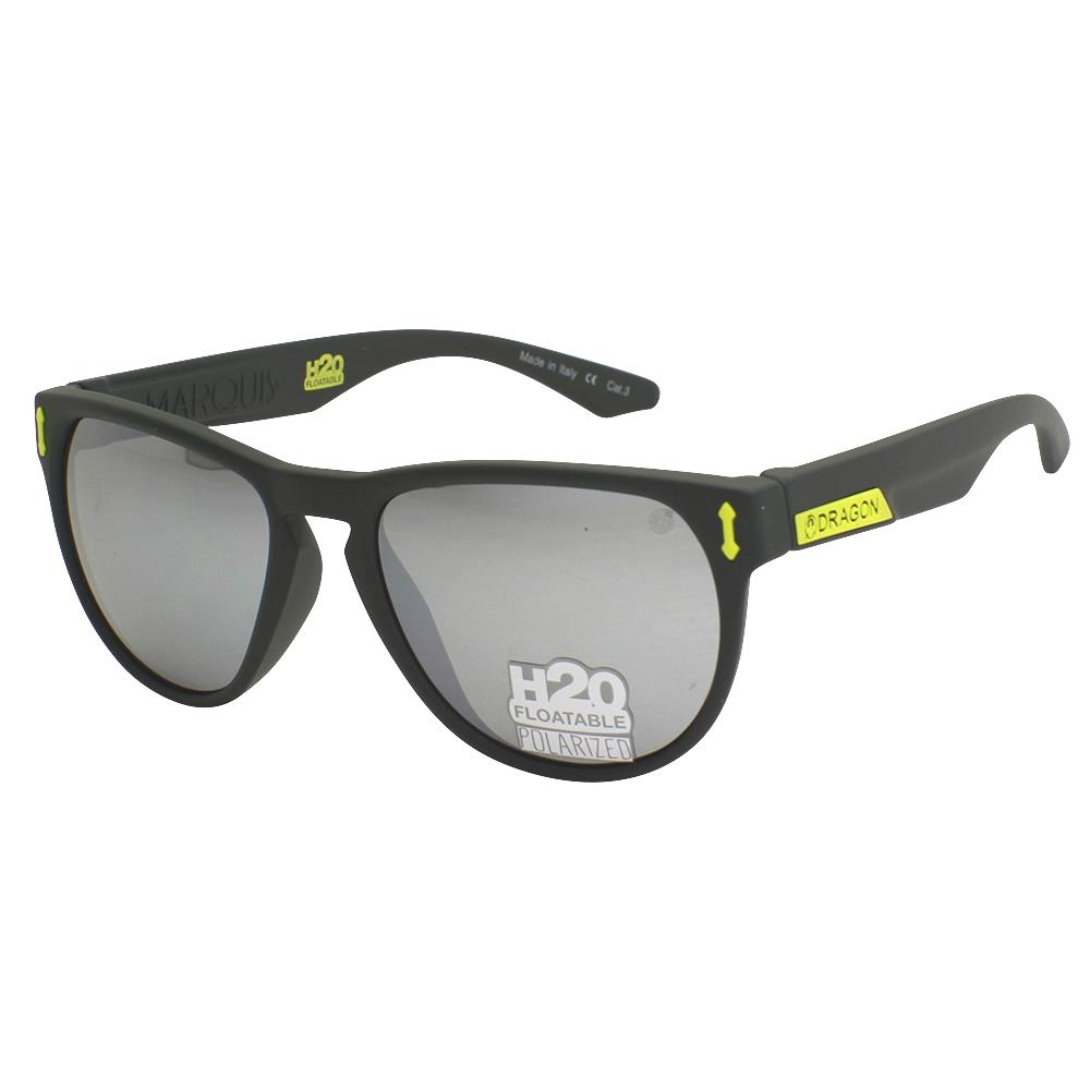 39358bd7fb Dragon POLARIZED MARQUIS Sunglasses - H2O Floatable Matte Grey ...