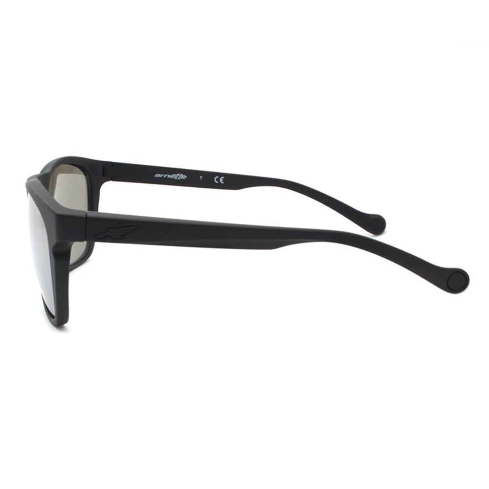 Arnette AN 4205-01 Dean 22756G Black White Silver Mirror Mens Sunglasses w Case