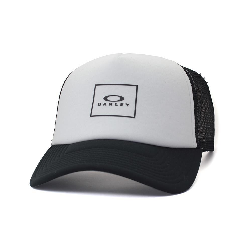 3203cbfc949 Oakley RACER Adjustable Trucker Cap Black White Logo Mens Baseball ...