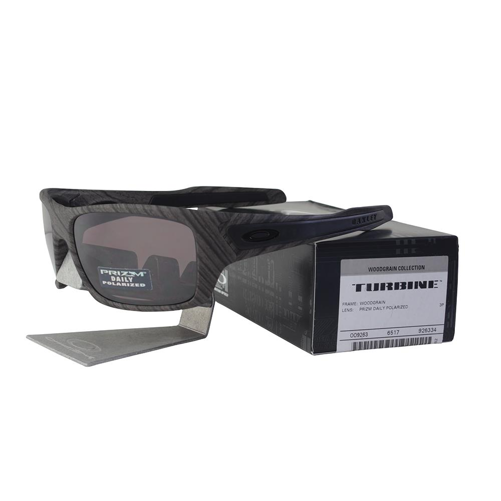 a278d7a693e Details about Oakley OO 9263-34 POLARIZED TURBINE Woodgrain Prizm Daily Lens  Mens Sunglasses