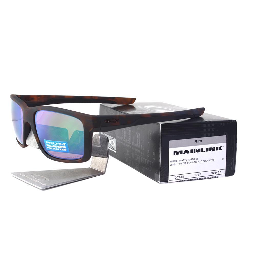Oakley Mainlink Prizm >> Details About Oakley Oo 9264 22 Polarized Mainlink Prizm Tortoise Shallow H2o Sunglasses