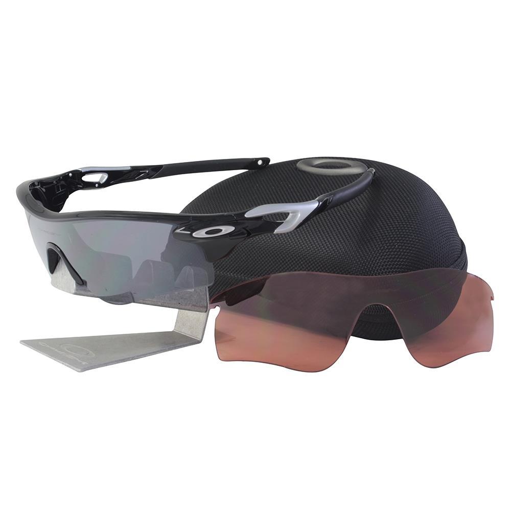 59bc9031b15 Details about Oakley OO 9181-19 RADARLOCK PATH Polished Black Iridium VR28  Mens Sunglasses