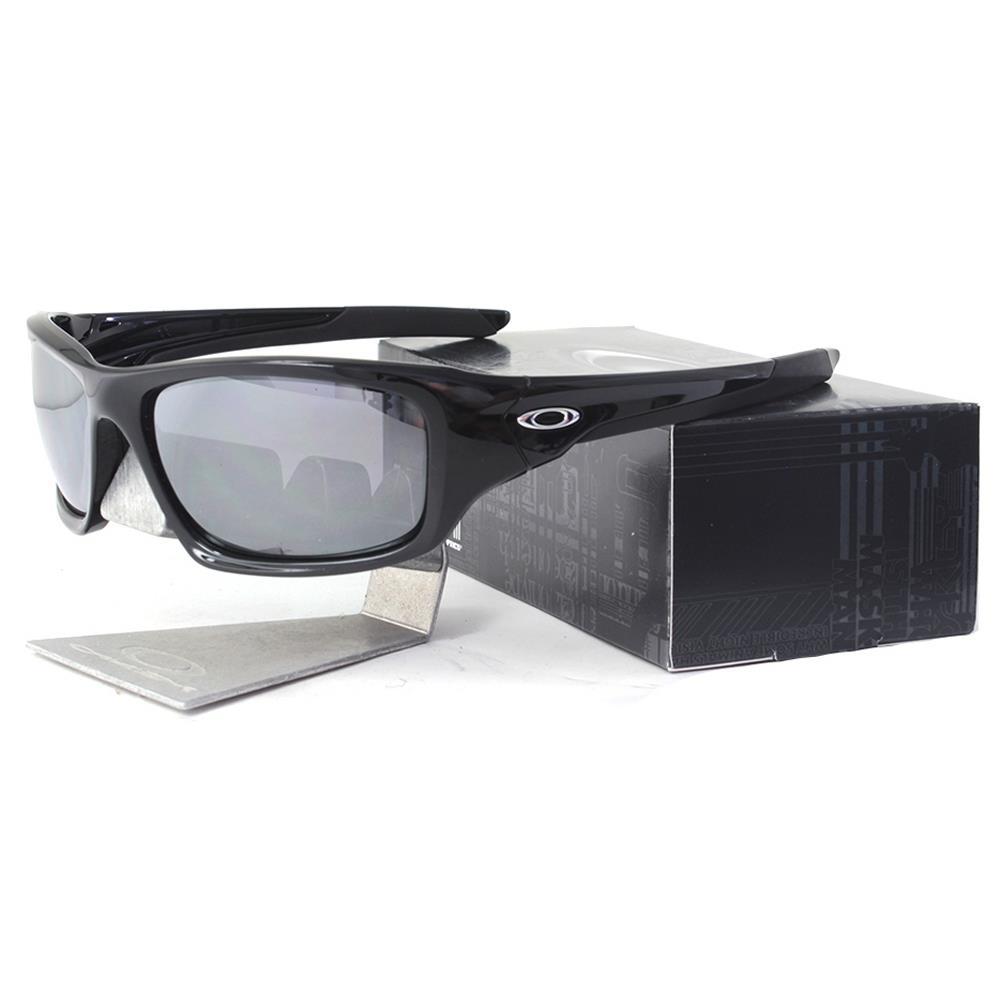 84d79c27abb Details about Oakley OO 9236-01 Valve Polished Black Frame Iridium Mirror  Lens Mens Sunglasses