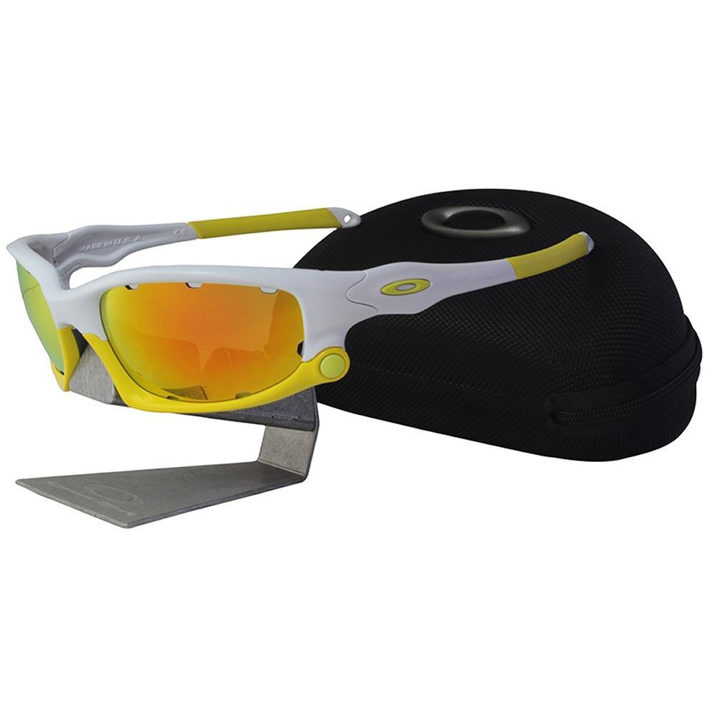 stile limitato selezionare per lo spazio diversamente Details about Oakley OO 9099-12 SPLIT JACKET White Fire Iridium Vented  Cycling Sunglasses .