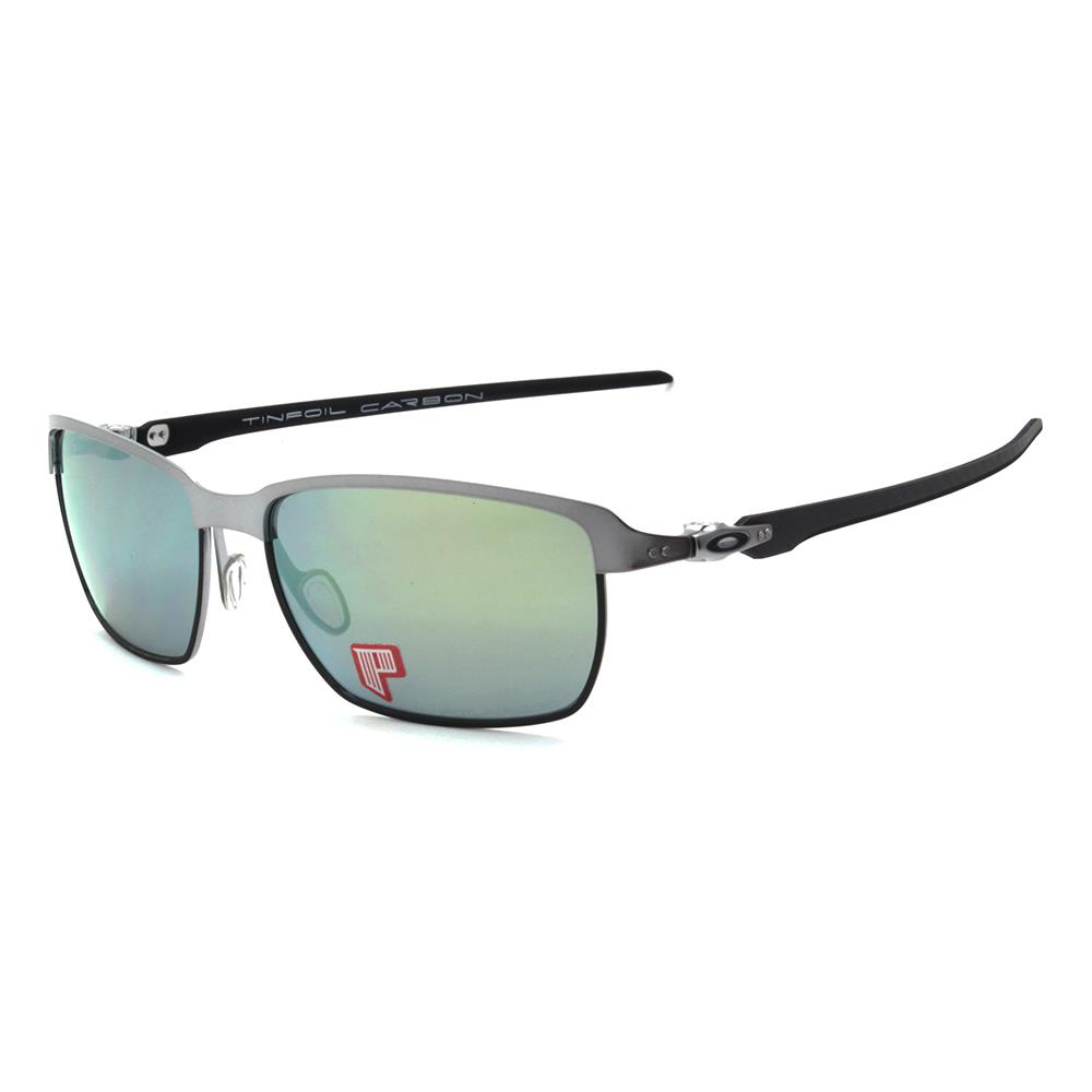 3abc02725b5 Details about Oakley OO 6018-04 POLARIZED TINFOIL CARBON Lead Matte Black  Emerald Sunglasses