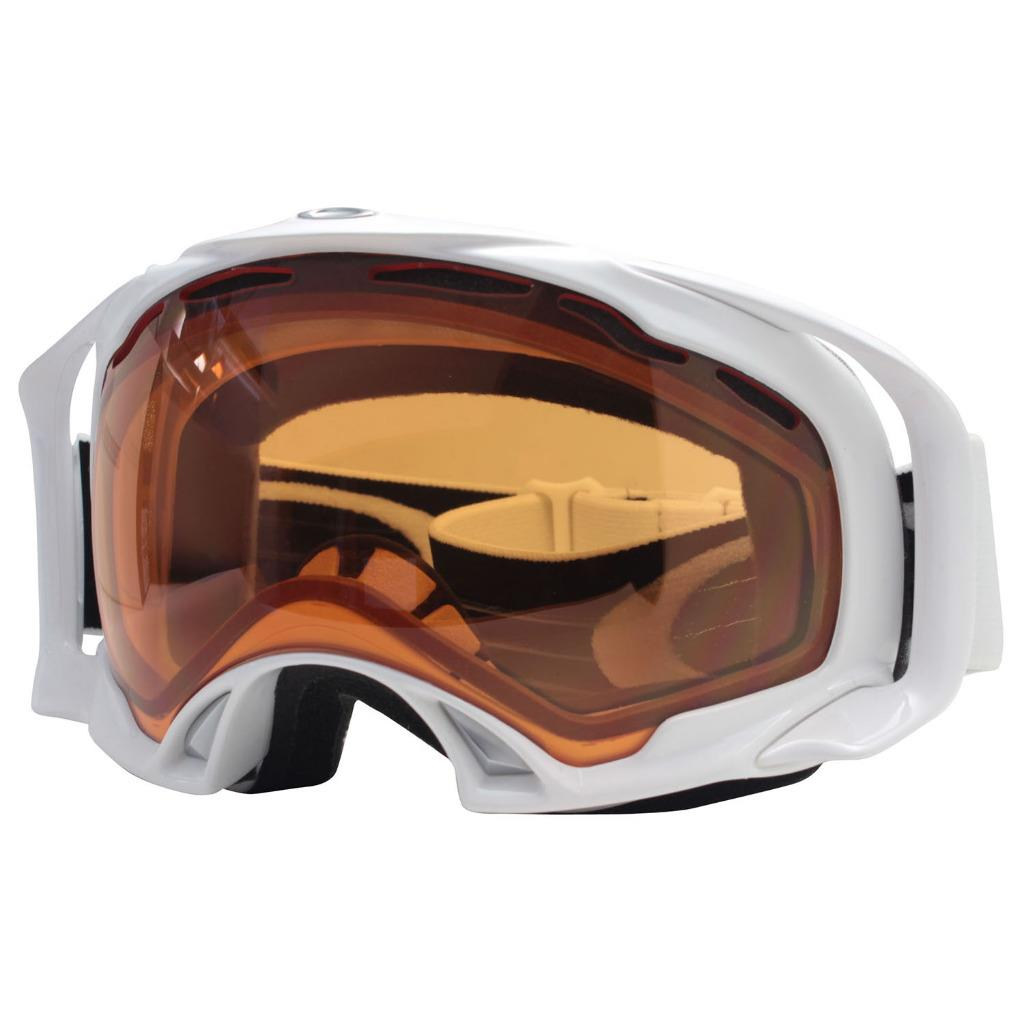 a2cbd016f1 Details about Oakley 01-868J SPLICE Polished White Persimmon Lens Asian Fit  Snow Ski Goggles .