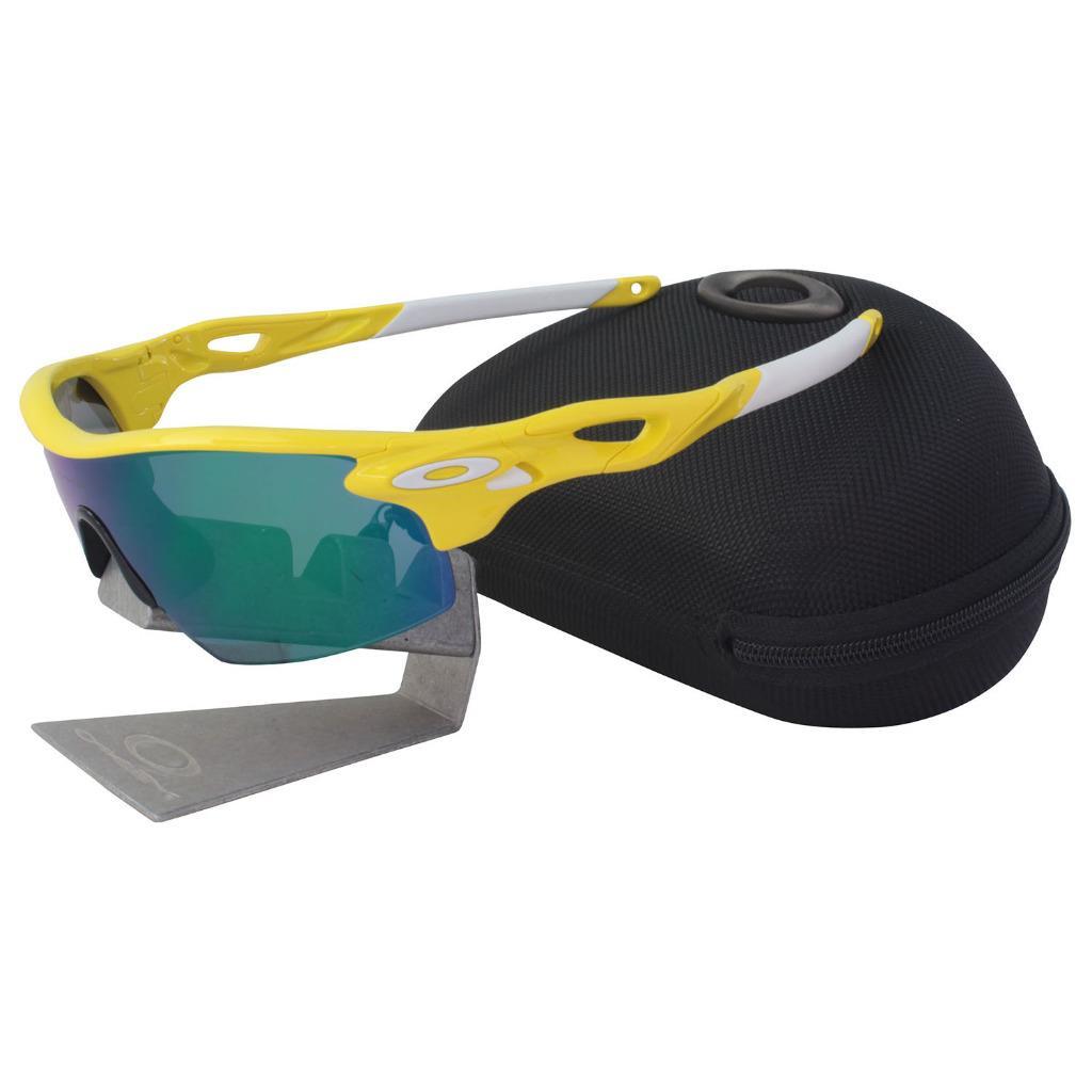 4391ac9cd9 Details about Oakley Custom RADARLOCK PITCH Team Yellow Frame Jade Iridium  Lens Sunglasses