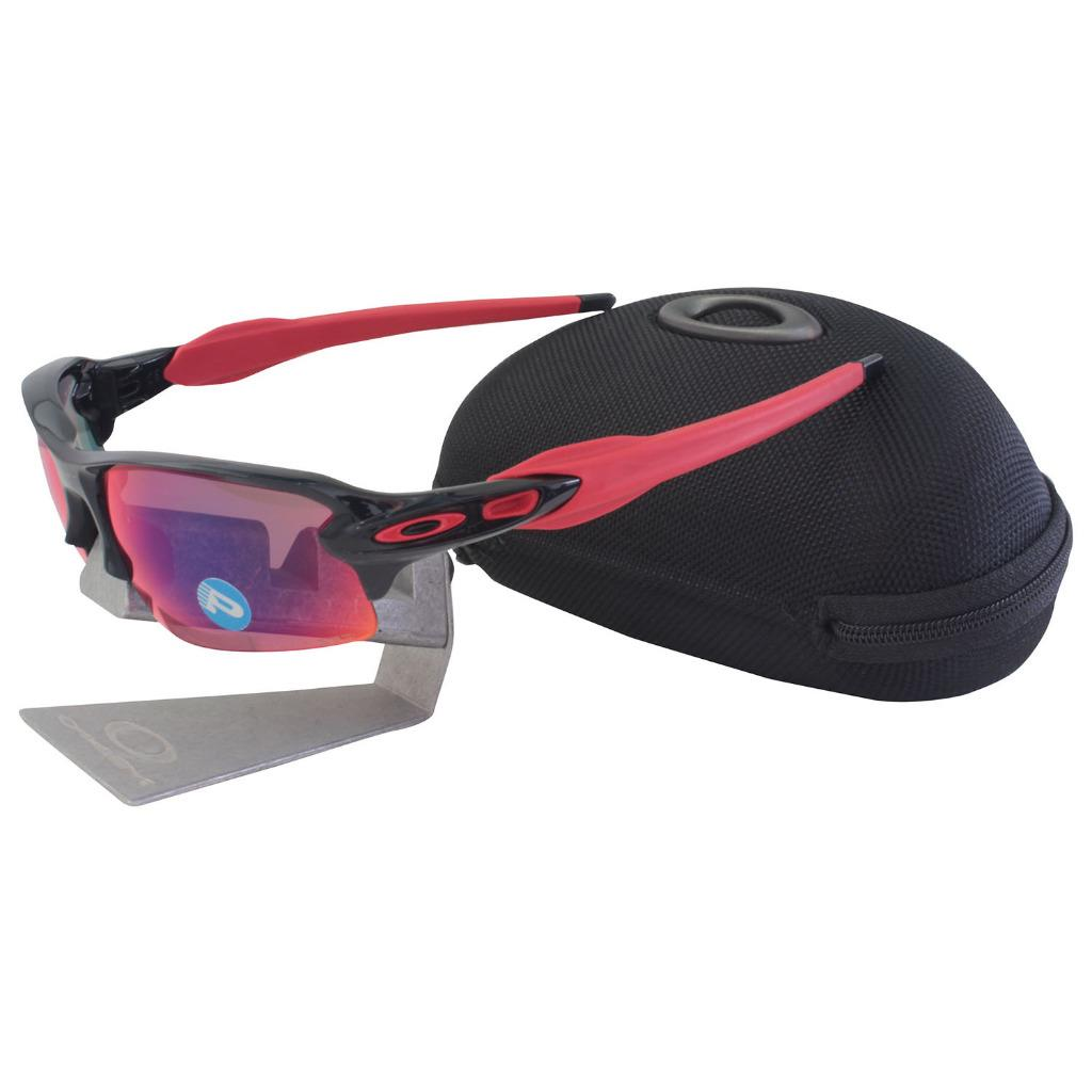 ed767a7e3cc Details about Oakley OO 9295-08 POLARIZED FLAK 2.0 Black Ink OO Red Iridium  Mens Sunglasses