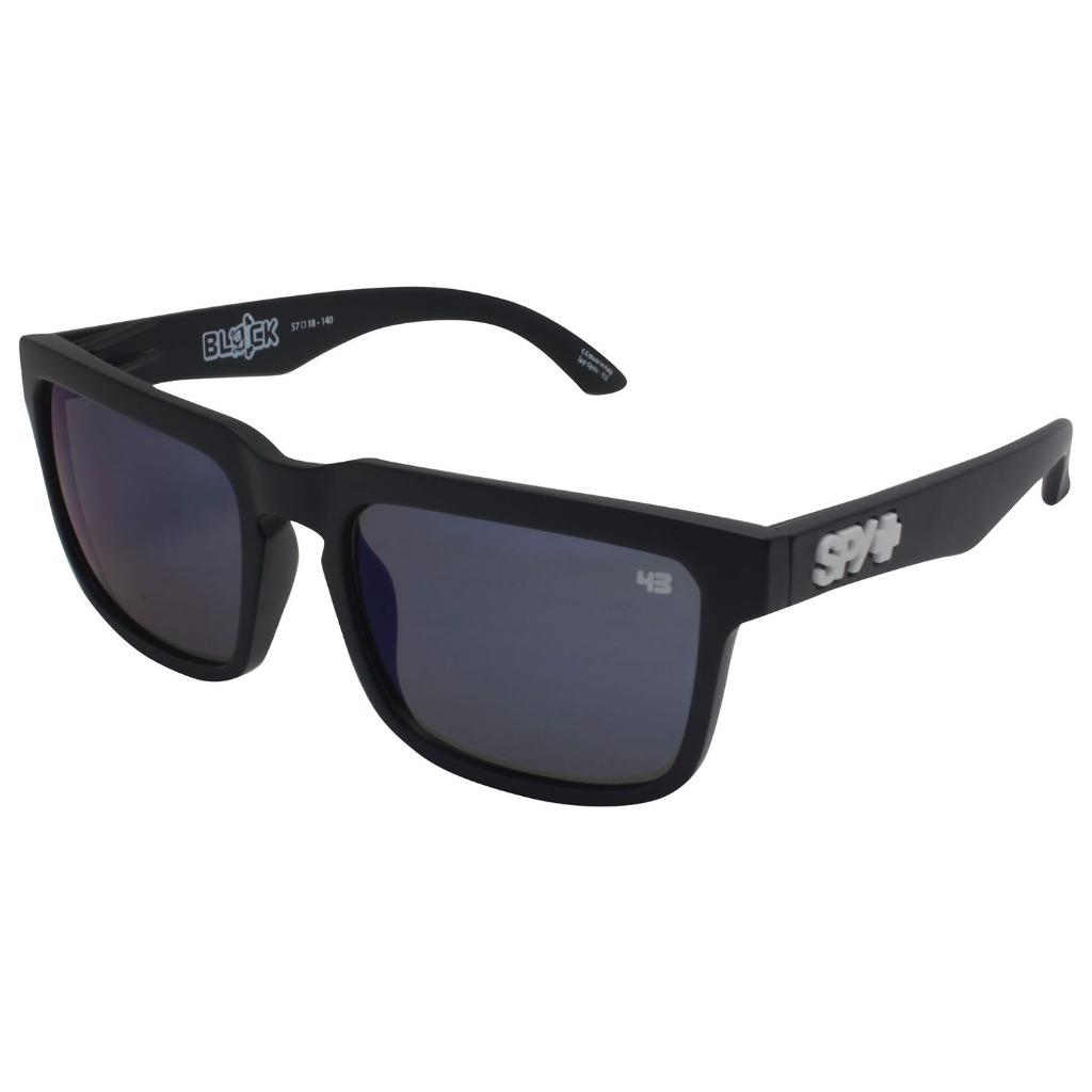 9f6c91648dd40 Spy KEN BLOCK HELM Matte Black Frame Blue Mirror Lens Mens Signature ...