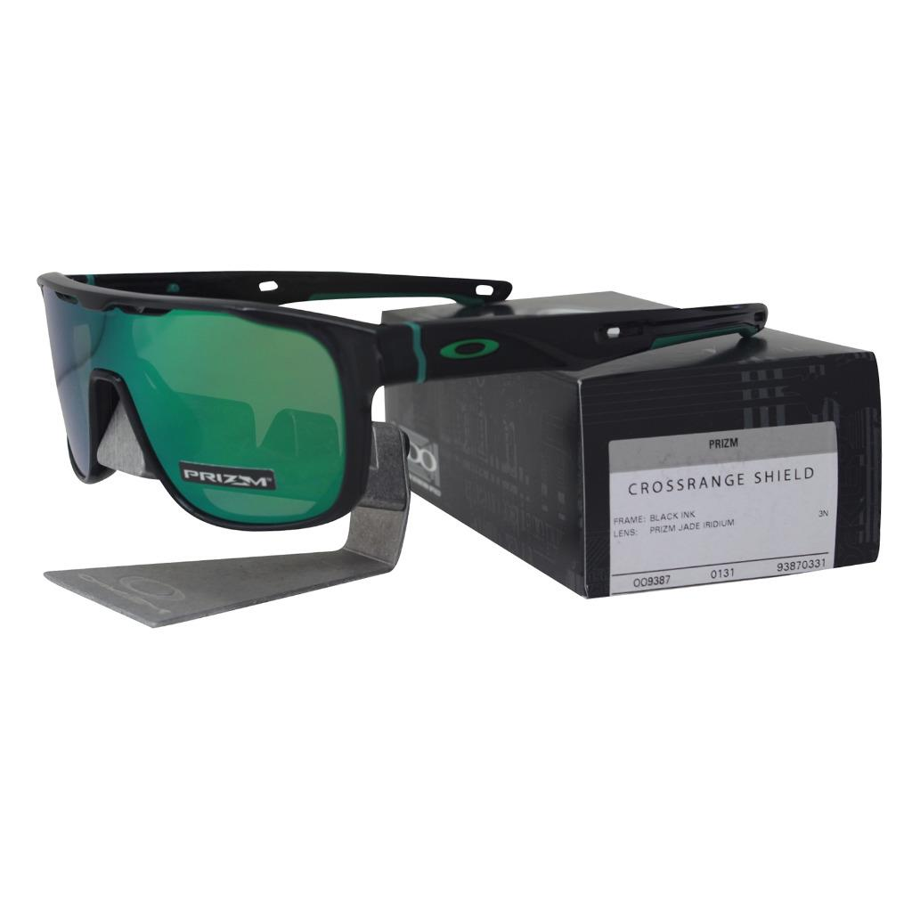 e086dfd09fb Oakley OO 9387-0331 CROSSRANGE SHIELD Black Ink Prizm Jade Iridium ...