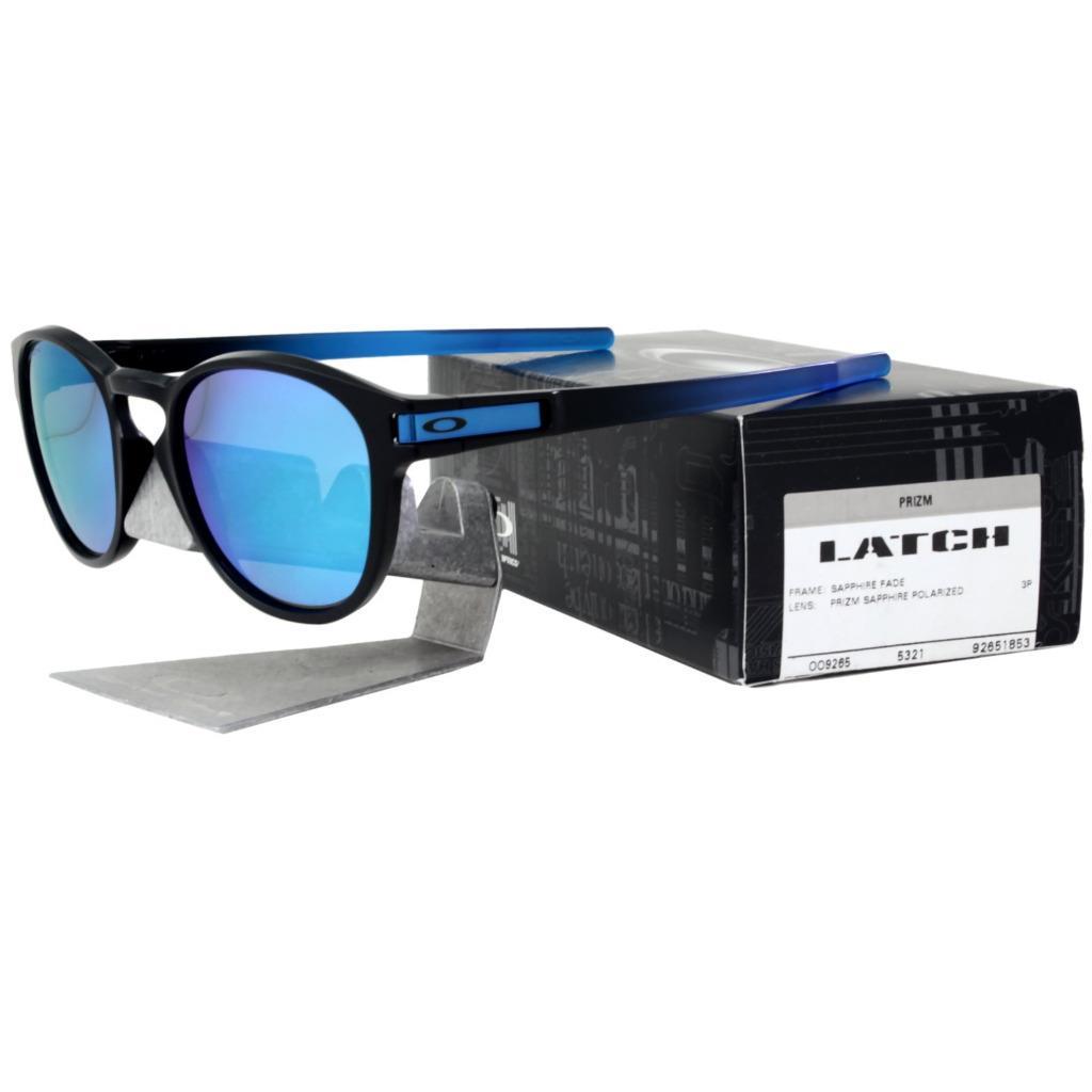 a421c149c Details about Oakley OO 9265-1853 POLARIZED LATCH Sapphire Fade Prizm Lens  Mens Sunglasses