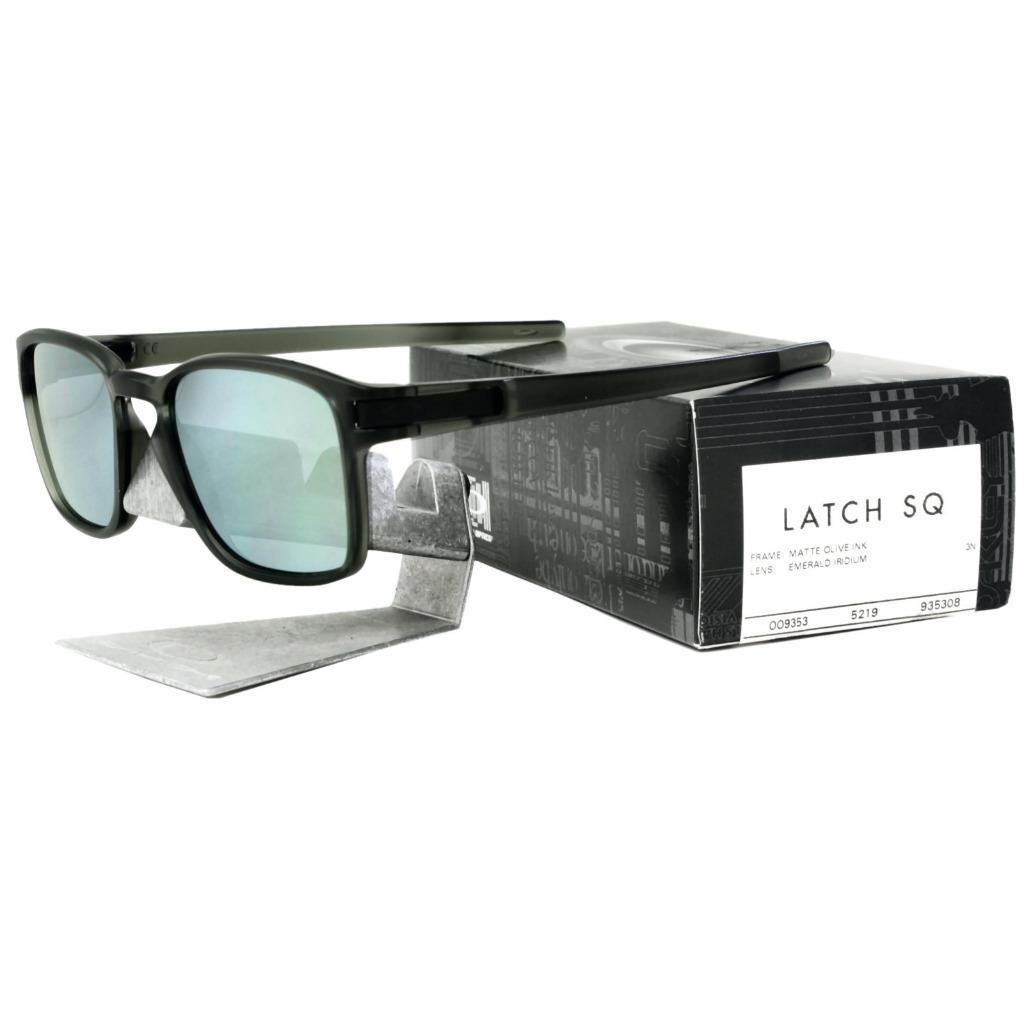 ed9e20643ae6f Oakley OO 9353-08 LATCH SQ Matte Olive Ink Emerald Iridium Lens Mens ...