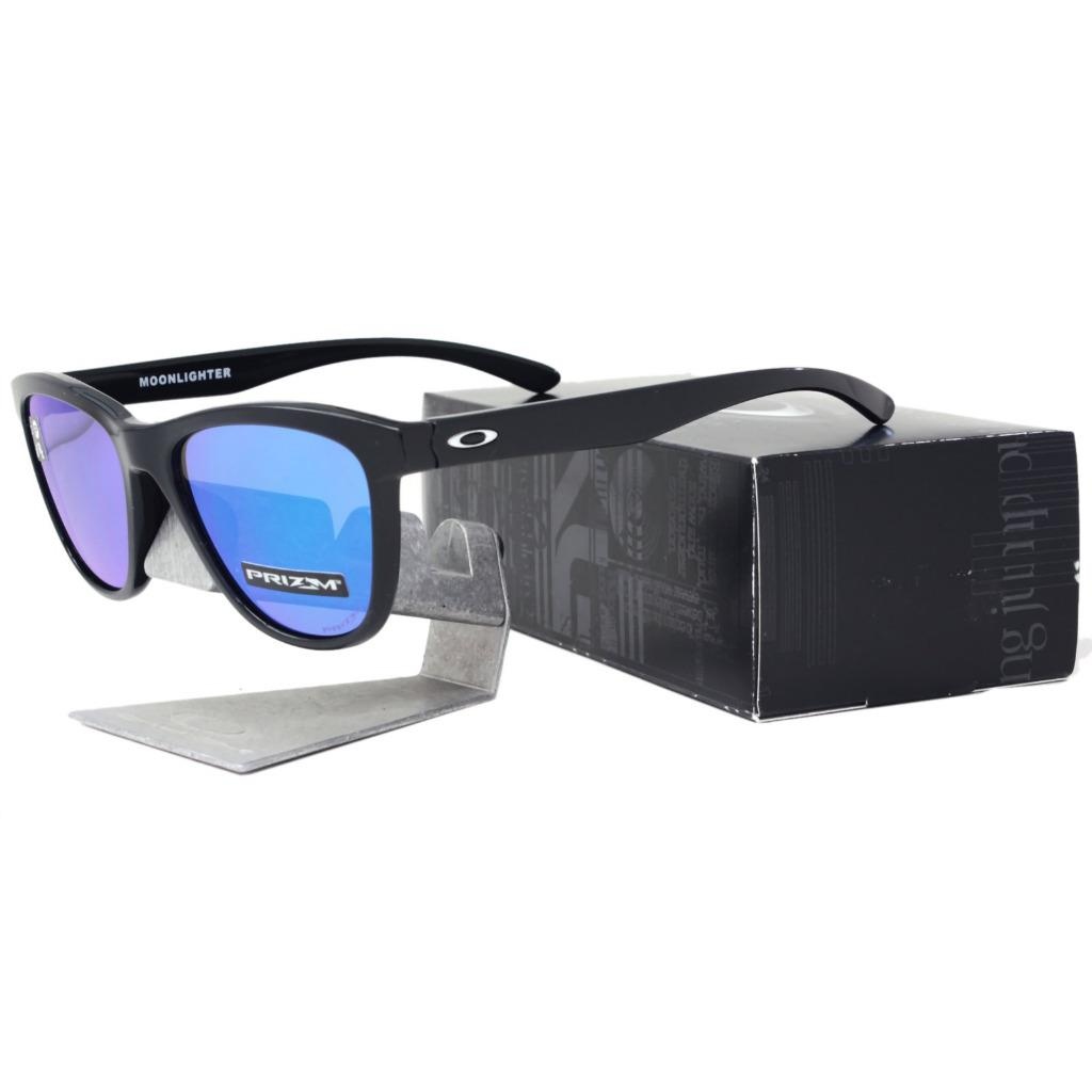 1bf212950ca Details about Oakley OO 9320-1653 MOONLIGHTER Black Prizm Sapphire Iridium  Lens Sunglasses