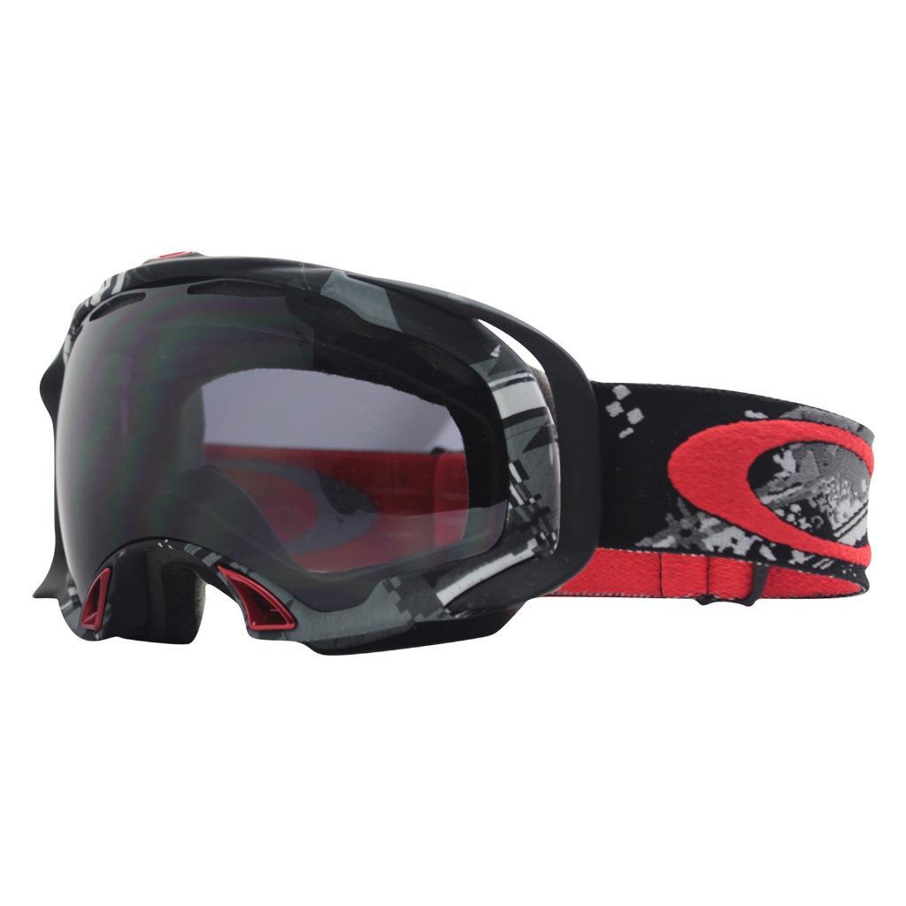 11b700293d3 Details about Oakley 57-137 SPLICE Shattered Grey Black Dark Grey Lens  Unisex Snow Ski Goggles