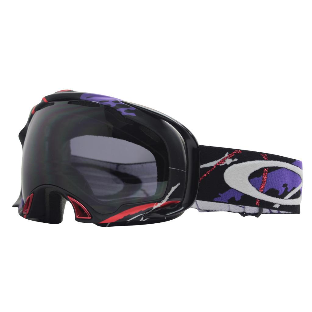 ce6cce4a2c46 Details about Oakley 57-355 SIMON DUMONT SPLICE Black Dark Grey Lens Mens Snow  Ski Goggles .