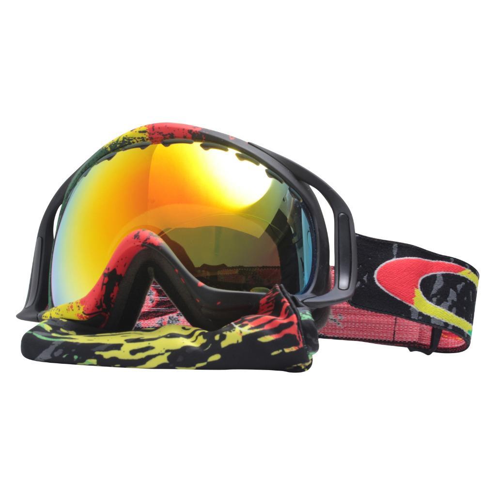 002e153af7 Details about Oakley 57-357 TANNER HALL CROWBAR Rasta Mane Fire Lens Mens  Snow Ski Goggles .