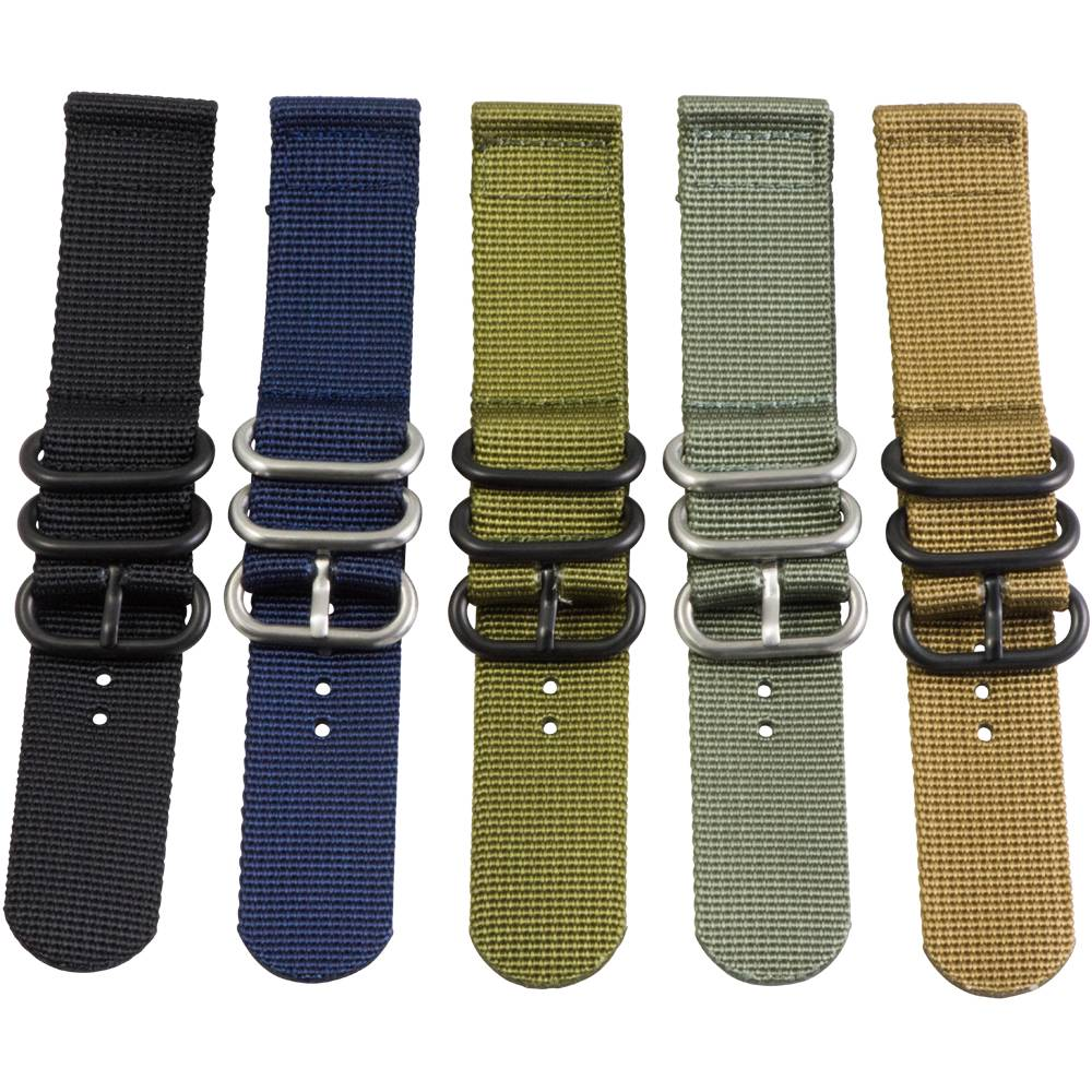 1b1c13d87b3 2 Piece 3 Ring Ballistic Military Nylon Replacement Watch Strap Band ...