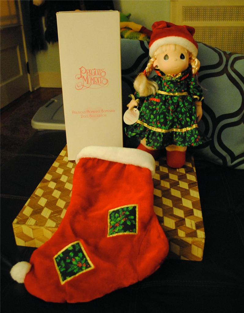 Comes With Christmas Stocking For Doll To In So Cute Original Tag Attached Smoke Free Home Bright Clean Colors Plush Body Vinyl Face Hands