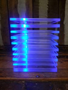 Ikea Adjustable Poseable Lucite Blue Led Table Desk Accent