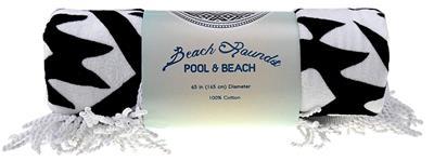 "Dérouleurs Oeko-Tex loft Pool /& Beach rond serviette 65/"" Diamètre De BN"