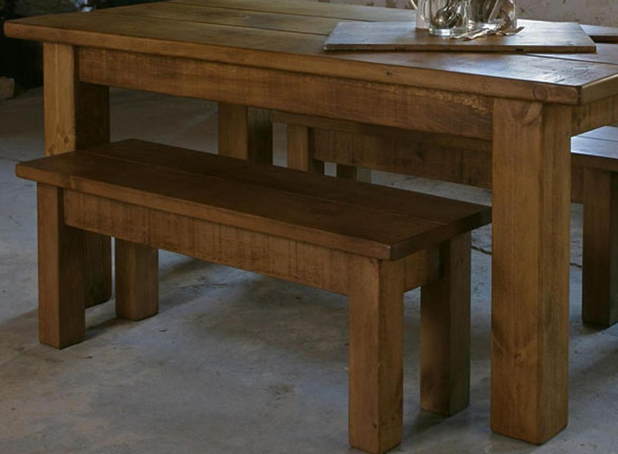 Any Size Made Solid Wooden Dining Table Amp Benches Chunky