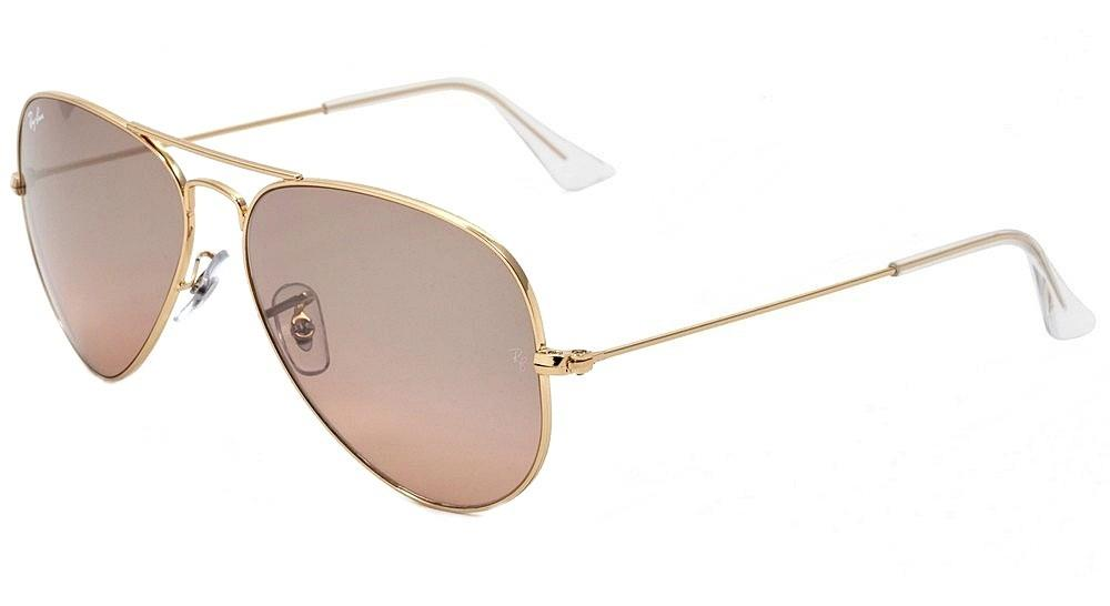 ray ban 3025 aviator silver glassack frame and mirror lenses