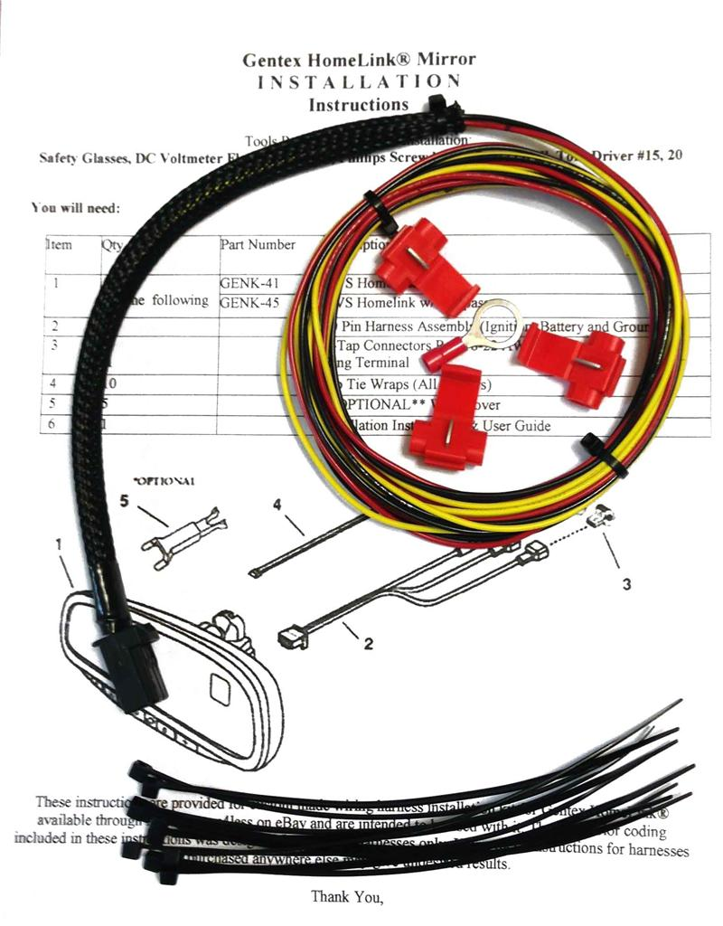gentex mirror wiring diagram 2010 toyota gentex mirror wiring diagram #5
