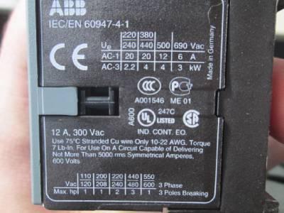 Abb Contactor Vb6 30 10 W Iec En 60947 4 1 Ebay