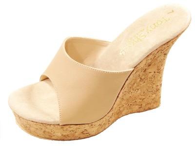 Tony Shoes W544 Cork Wedge High Heel Platform Mules