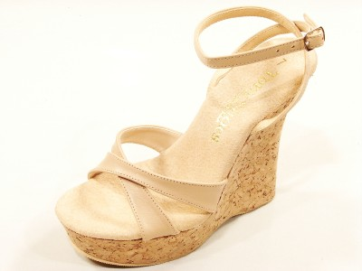 Tony Shoes W543 5 Cork Wedge High Heel Platform Ankle