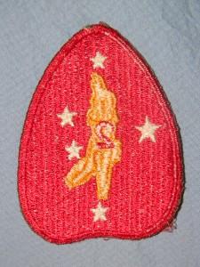 PATCH WW2 USMC MARINE CORPS 2ND MARINE DIVISION RARE VARIATION KIDNEY