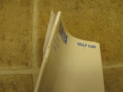 Yamaha Golf Car Cart Owners Manual G16A G16E Gas Electr