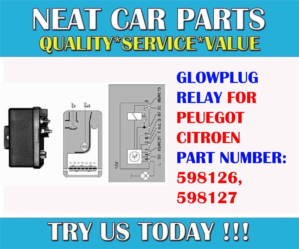glow plug relay for peugeot 106 205 306 405 expert boxer ... peugeot 306 glow plug relay wiring diagram #9