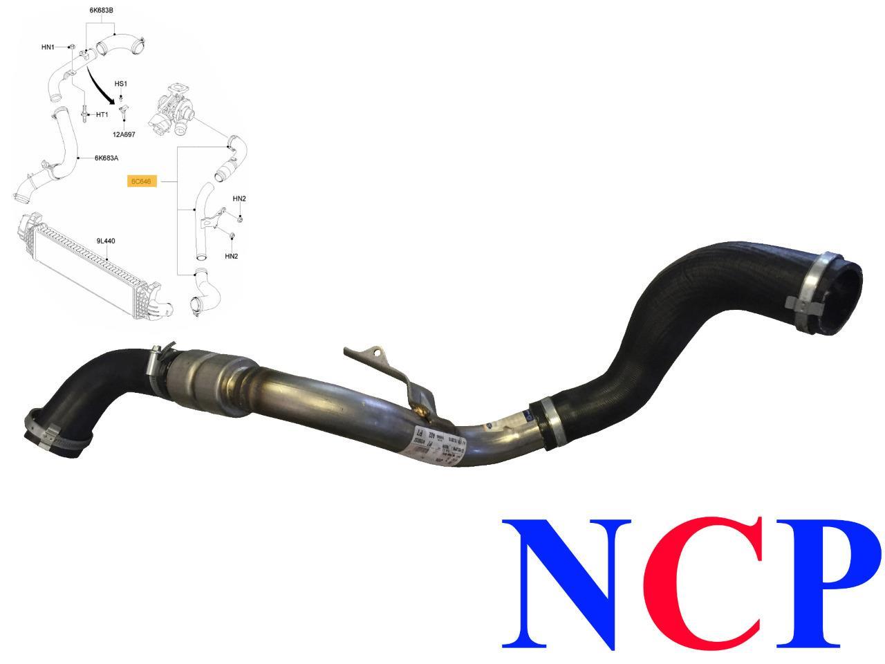ford focus c max mk2 1 8 tdci turbo intercooler hose pipe. Black Bedroom Furniture Sets. Home Design Ideas