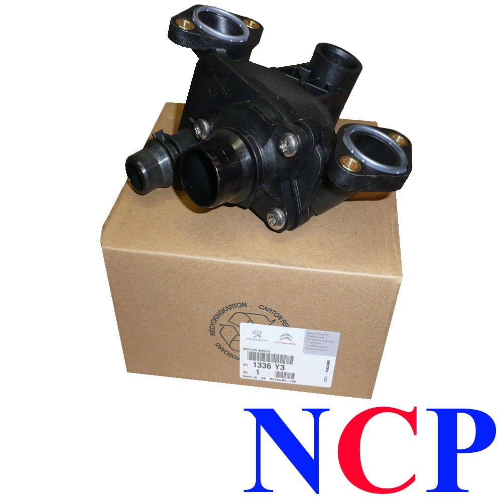 peugeot 407 607 citroen c5 c6 2 7 hdi 3 0 hdi thermostat housing 1336y3 genuine ebay. Black Bedroom Furniture Sets. Home Design Ideas