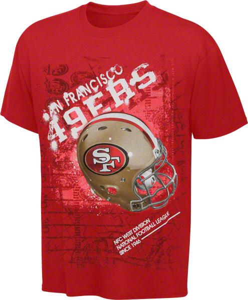 NFL San Francisco SF 49ers Youth Helmitude Tee T Shirt Fast Shipping