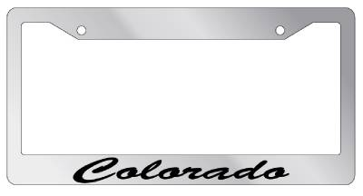 Chrome Metal License Plate Frame Guatemala Cursive Auto